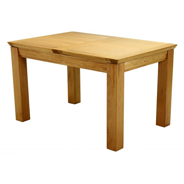Breton Solid American Oak Extending Dining Table