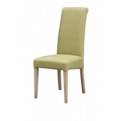 Hanbury Fabric Dining Chairs Olive Finish Wooden Light Oak Legs - Pack of Two