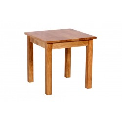 Hyde Solid Oak Square Lamp Side End Table