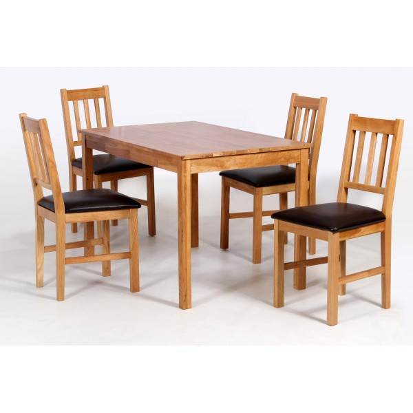 Hyde Solid Oak Dining Table with Four Chairs Black Faux  : hyde20set20APolgb6zhz 600x600 from modern-furnitures.co.uk size 600 x 600 jpeg 50kB