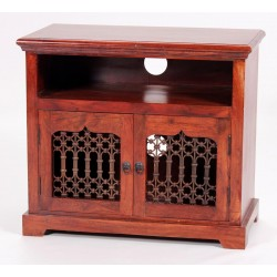 Jaipur TV Cabinet Entertainment Unit Solid Acacia Traditional Rustic Antique