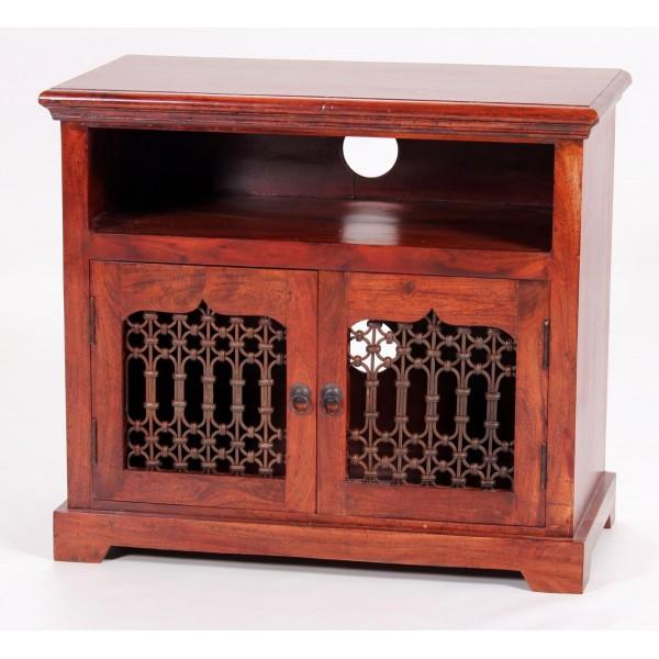 Jaipur TV Cabinet Entertainment Unit Solid Acacia Traditional Rustic Antique
