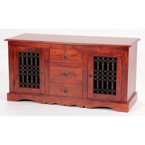 Jaipur Solid Acacia Traditional Rustic Antique Sideboard