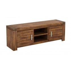 Parkfield Solid Acacia TV Stand Entertainment Cabinet