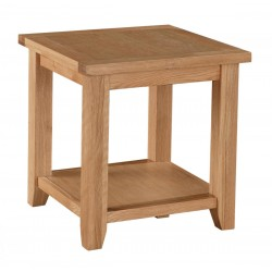 Stirling Solid Oak Lamp Side End Coffee Table