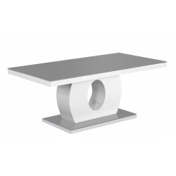 Edenhall Coffee Table Grey Glass with White Gloss Frame