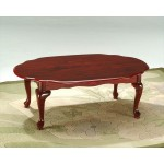 Princess Traditional Queen Anne Coffee Table - Mahogany Finish
