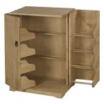 Corona Distressed Light Waxed Solid Pine DVD CD Games Storage Unit