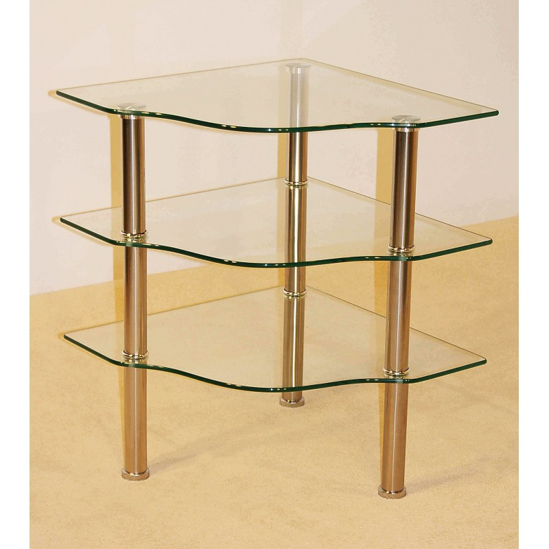 Corner Exhibition Stands Tallahassee : Kansas three shelf clear glass corner display tv