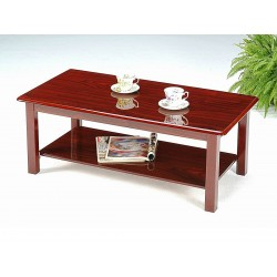 Avon Two Shelf Gloss Mahogany Coffee Table