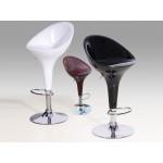 Two Adjustable & Swivel Seat Breakfast Bar Stools (Red Wine)