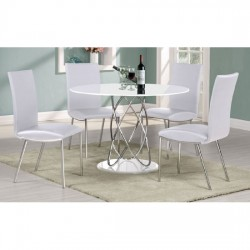 Eclipse White Gloss Round Dining Table Set