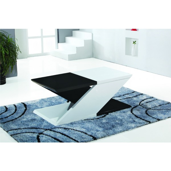 Gibson White & Black Gloss Coffee Table