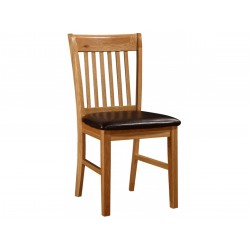 Lincoln Solid Oak Traditional Wooden Dining Chairs Natural Finish - Pack of Two