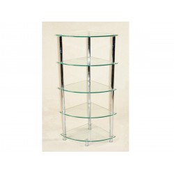 Cologne Clear Glass Corner Rack 5 Tier