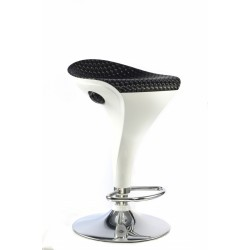 Two Welford White & Black with Chrome Frame Breakfast Bar Stool