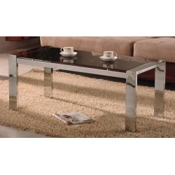 Kensington Black Glass Chrome Coffee Table