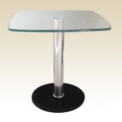 Orsett Clear Glass Lamp & Side Table with Marble Base (sold in pairs)
