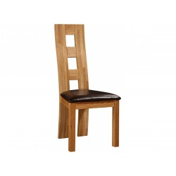 Two Weston Solid Oak Dining Chairs - Natural Finish