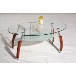 Bolivia Two Shelf Glass Coffee Table