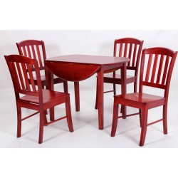 Southall Drop Leaf Dining Table with Four Chairs - Mahogany Finish