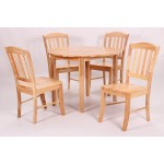 Southall Drop Leaf Dining Table with Four Chairs - Natural Finish