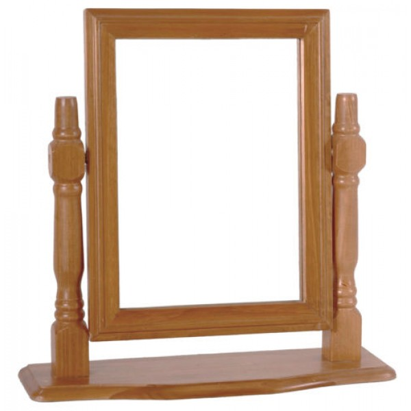 Skagen Antique Pine Vanity Mirror Rectangle with Drawer