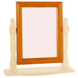 Skagen Pine Vanity Mirror Rectangle with Drawer - Cream Finish
