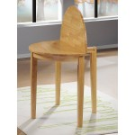 Lunar Folding & Extending Round Dining Table with Two Chairs - Oak Finish