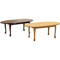 Queen Anne Traditional Coffee Table - Golden Oak Finish