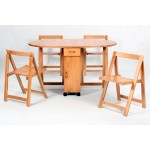 Butterfly Drop Leaf  Dining Table with Four Chairs - Oak Finish