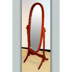 Venessa Mahogany Adjustable Oval Cheval Mirror