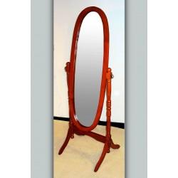 Venessa Mahogany Adjustable Oval Cheval Mirror
