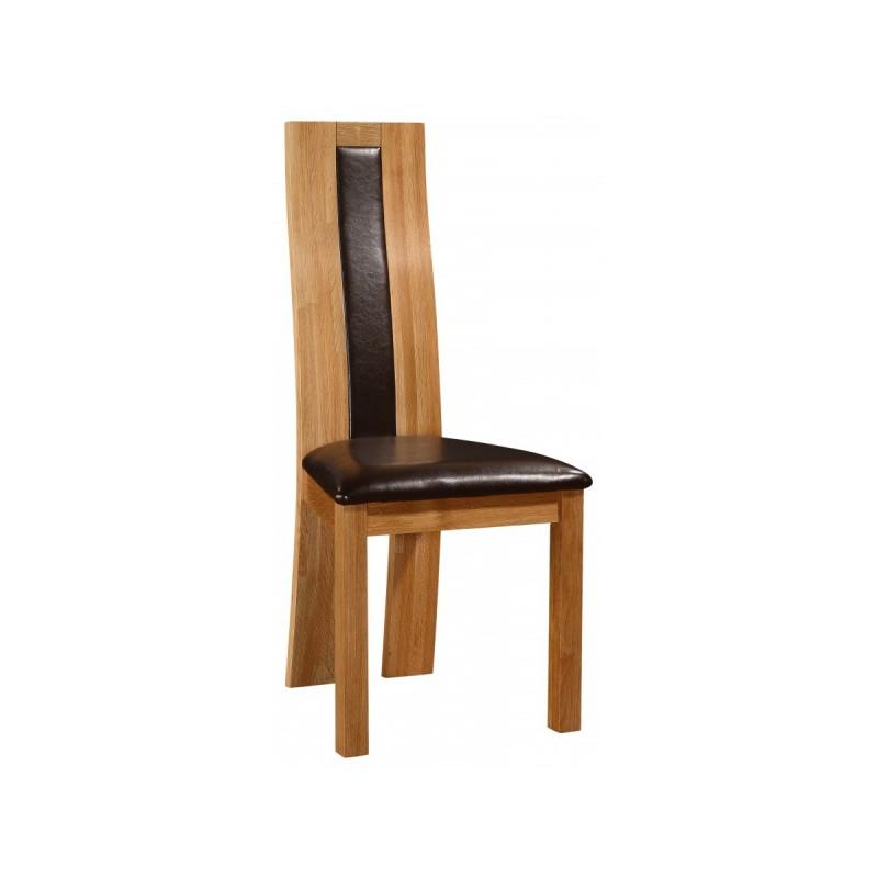 High Back Oak Leg Brown Leather Kitchen Dining Chairs X: Solid Oak Dining Chairs With Brown Leather Seat Pad