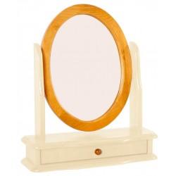 Skagen Pine Vanity Mirror Round with Drawer - Cream Finish