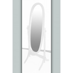 Venessa White Adjustable Oval Cheval Mirror