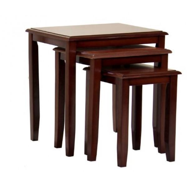 Kingfisher Traditionak Mahogany Nest of Tables