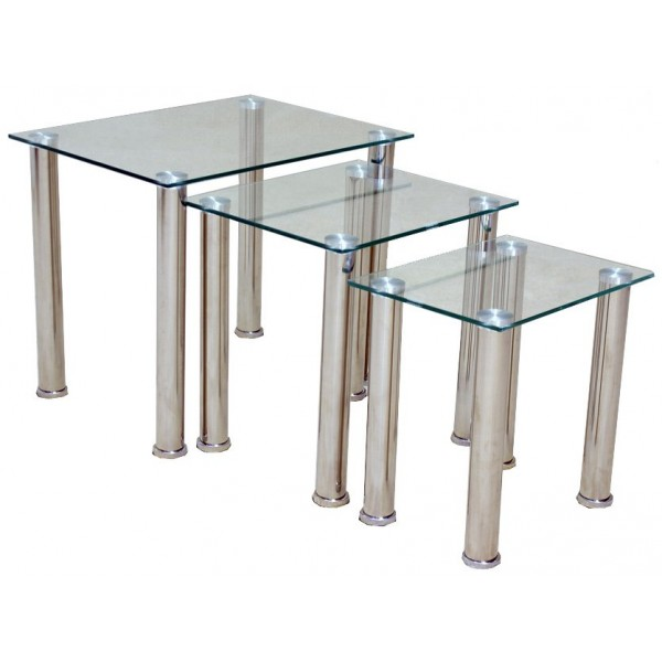 Togo Clear Glass Nest of Tables